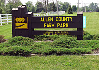 Allen County Farm Park Sign