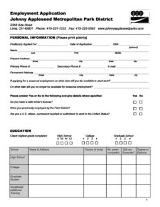 employment application johnny appleseed metropolitan park district